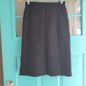Hugo Buscati black wool a line skirt